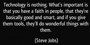 faith in people - Jobs