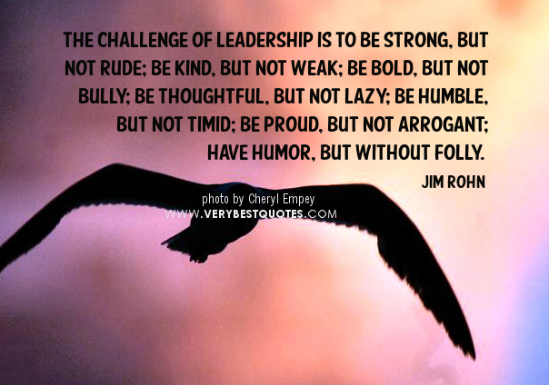 18 reasons why strong, compelling leadership is vital.