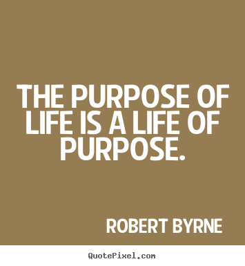 What purpose looks like